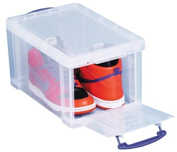 Really Useful Box opbergdoos 14 liter met opening aan de voorkant, transparant