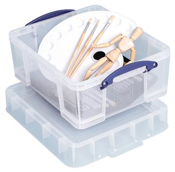 Really Useful Box opbergdoos 18 liter XL, transparant