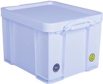 Really Useful Box opbergdoos 35 liter, neonwit met witte handvaten