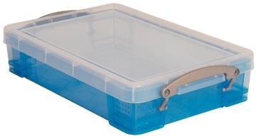 Really Useful Box opbergdoos 4 liter, transparant blauw