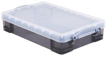 Really Useful Box opbergdoos 4 liter, transparant gerookt