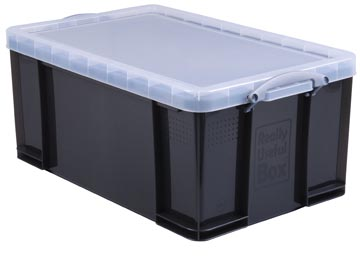 Really Useful Box opbergdoos 64 liter, transparant gerookt