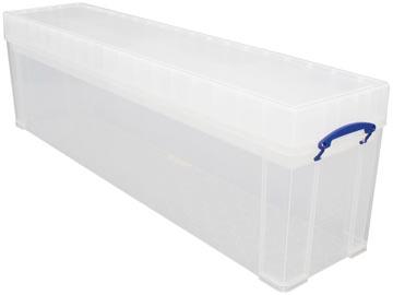 Really Useful Box 77 liter, transparant, per stuk verpakt in karton
