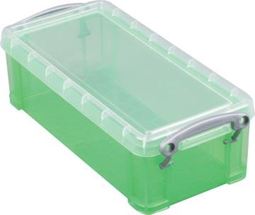 Really Useful Box opbergdoos 9 liter, transparant groen