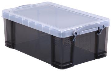 Really Useful Box opbergdoos 9 liter, transparant gerookt