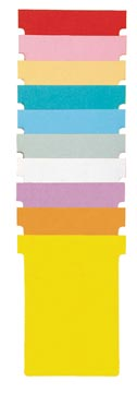 Nobo T-planbordkaarten index 4, ft 180 x 124 mm, geel