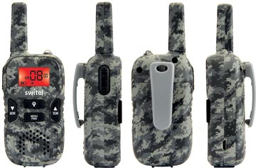 Switel talkie walkie duo, 38 canaux, jusqu'à 5km de portée