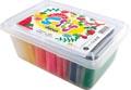 Darwi pâte à modeler Super Softy 150 g, seau de 10 pièces en couleurs assorties