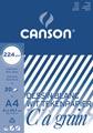 Canson tekenblok C à grain 224 g/m², ft 21 x 29,7 cm (A4)