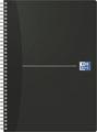 Oxford Office Essentials spiraalschrift, 180 bladzijden, ft A4, geruit 5 mm, zwart