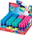 Maped taille-crayon + gomme Connect Soft Touch, présentoir de 20 pièces en couleurs assorties