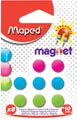 Maped aimants sur carte, diamètre 10 mm, blister de 8 pièces, 1 couleur par blister