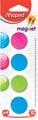 Maped aimants sur carte, diamètre 27 mm, blister de 4 pièces, 1 couleur par blister