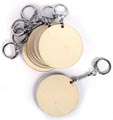 Graine Créative Porte-clés en bois, rond, diamètre 55 mm, sachet de 10 pièces