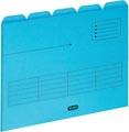 OXFORD Ultimate sous-dossiers, format A4, en carton, avec 5 onglets, paquet de 5 pièces, bleu