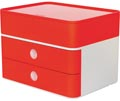 Han ladenblok Allison, smart-box plus met 2 laden en organisatiebak, wit/rood