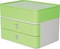 Han bloc à tiroirs Allison, smart-box plus avec 2 tiroirs et boîte de rangement, blanc/vert