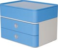 Han ladenblok Allison, smart-box plus met 2 laden en organisatiebak, wit/blauw