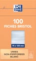 OXFORD flashcards ongeperforeerd, ft 75 x 125 mm, effen, wit, pak van 100 vel
