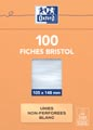 OXFORD flashcards ongeperforeerd, ft 105 x 148 mm, effen, wit, pak van 100 vel