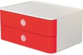 Han ladenblok Allison, smart-box met 2 laden, wit/rood