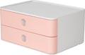Han ladenblok Allison, smart-box met 2 laden, wit/roze