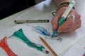 Talens Ecoline Brush pen, étui de 10 pièces en couleurs assorties