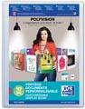 OXFORD Polyvision personaliseerbare presentatiealbum, formaat A4, uit PP, 60 tassen, transparant