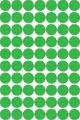 Apli étiquettes rondes en pochette diamètre 19 mm, vert, 560 pièces, 70 par feuille
