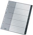 Leitz Recycle tabbladen, ft A4, 11-gaatsperforatie, PP, zwart, A-Z, internationaal
