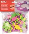 Apli Kids zelfklevende glitter bloemen, blister met 48 stuks