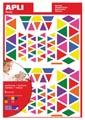 Apli Kids verwijderbare stickers, driehoek, blister met 720 stuks in geassorteerde kleuren en groottes