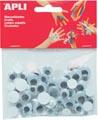 Apli zelfklevende knutselogen, rond, blister met 100 stuks