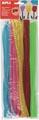 Apli chenilledraad, blister met 50 stuks in geassorteerde fluo kleuren