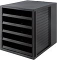 Han bloc à tiroirs Systembox Karma, avec 5 tiroirs ouverts, éco-noir