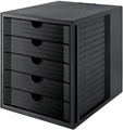 Han bloc à tiroirs Systembox Karma, avec 5 tiroirs fermés, éco-noir