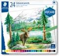 Staedtler crayon de couleur Design Journey, boîte métallique avec 24 crayons
