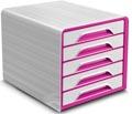 Smoove by CEP ladenblok met 5 laden, wit kader met roze laden