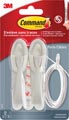 Command kabelbundelaar, medium, draagvermogen 900 gram, wit, blister van 2 stuks