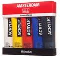 Amsterdam peinture acrylique tube de 120 ml, boîte de 5 tubes en couleurs non-primair