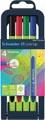 Schneider stylo feutre Line-Up, etui de 4 pièces en couleurs assorties