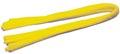 Bouhon ficelle chenille jaune, paquet de 10 pièces