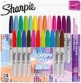 Sharpie marqueur permanente Electro Pop, fin, blister de 24 pièces en couleurs assorties