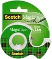 Scotch plakband Magic Tape, ft 19 mm x 7,5 m, blister met dispenser