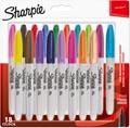 Sharpie marqueur permanente, fin, blister de 18 pièces en couleurs assorties