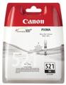 Canon inktcartridge CLI-521BK, 1.250 pagina's, OEM 2933B008, met beveiligingsysteem, zwart