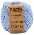 Graine Créative Corde en macramé, ft 2,5 mm x 80 m, bleu ciel