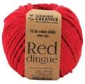 Graine Créative Corde en macramé, ft 2,5 mm x 80 m, rouge