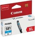 Canon inktcartridge CLI-581C XL, 519 pagina's, OEM 2049C001, cyaan