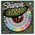 Sharpie marqueur permanente Lézard , fin et extra fine, boîte de 30 pièces en couleurs assorties